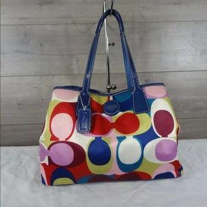 Coach Multi-colored Signature Scarf Shoulder Bag